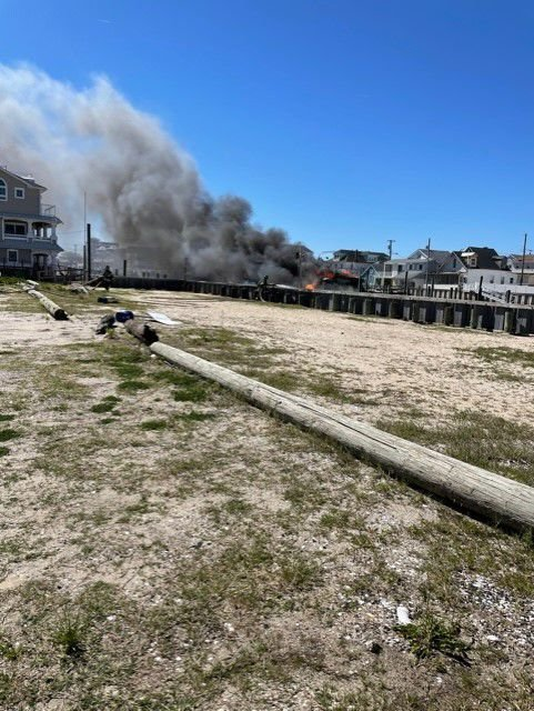 Wildwood Fire Department responds to boat fire May 1, 2021