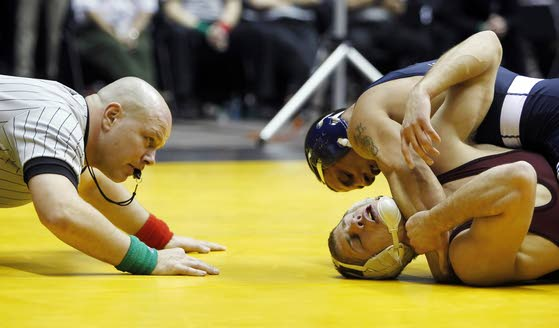 Southern Regional alum Molinaro repeats as Big Ten wrestling champ