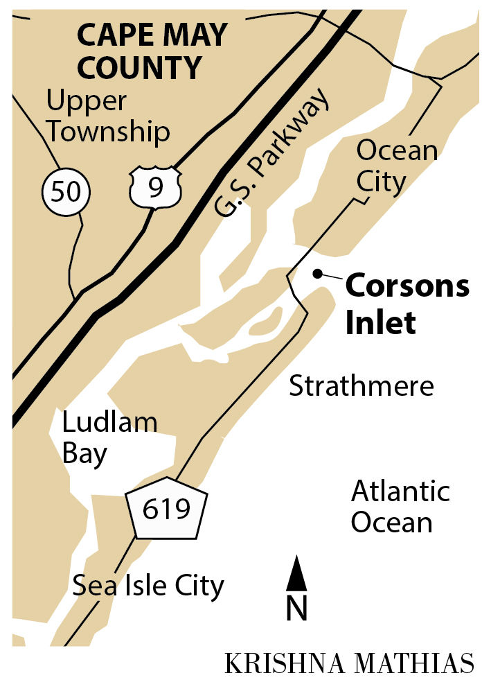 Corsons Inlet map
