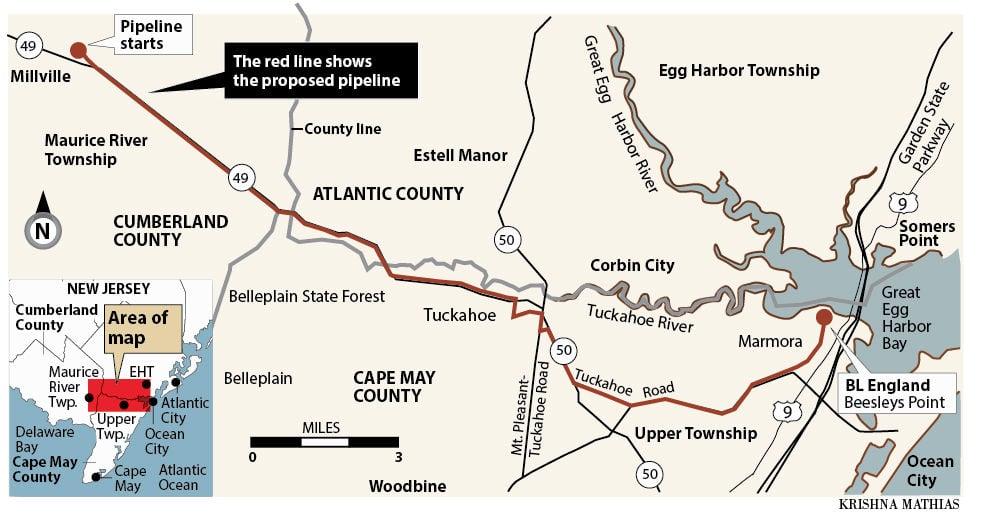 SJ Gas Pinelands pipeline map 7-2015
