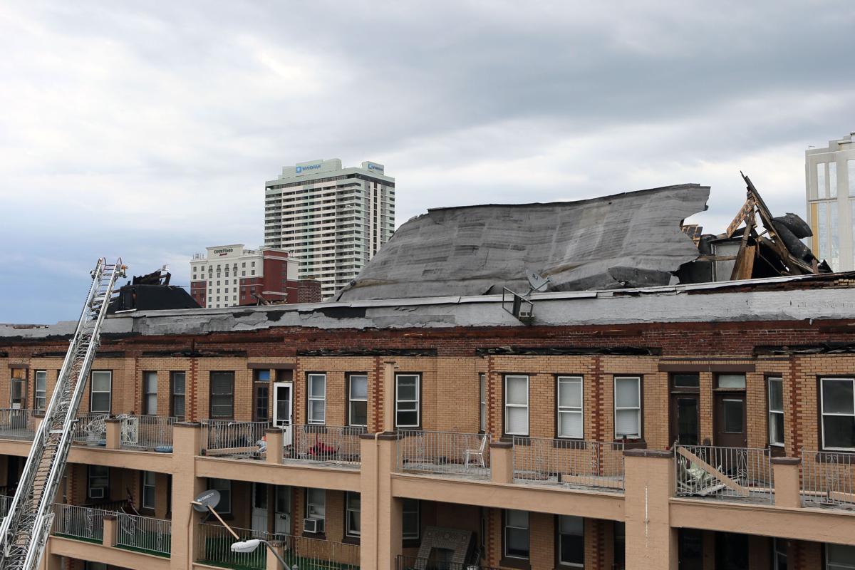 Roof blown off Atlantic City building