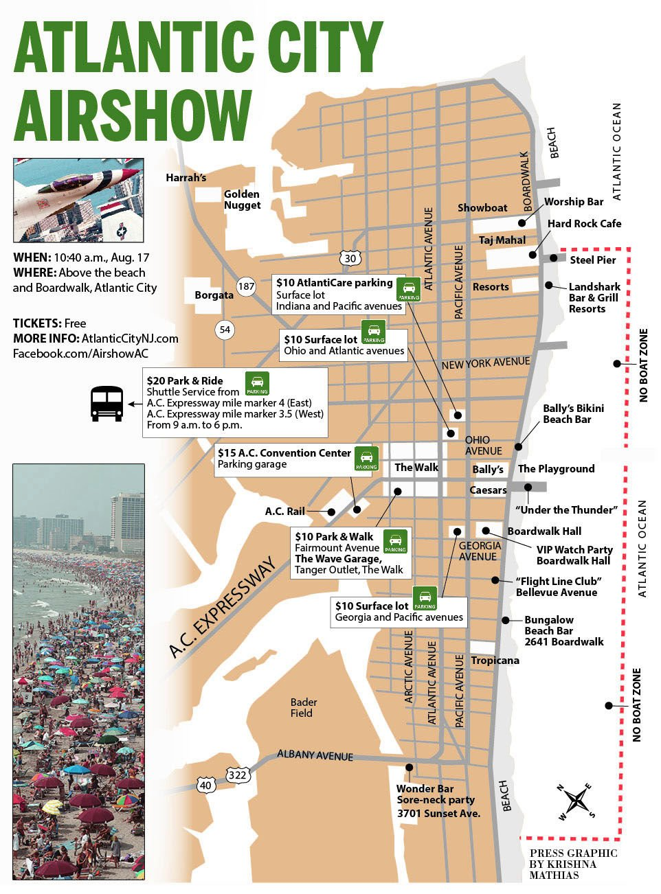 Atlantic City Airshow map 2016
