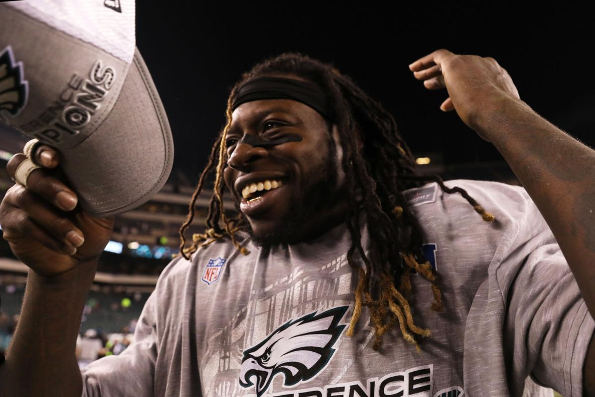 Eagles celebrate postgame