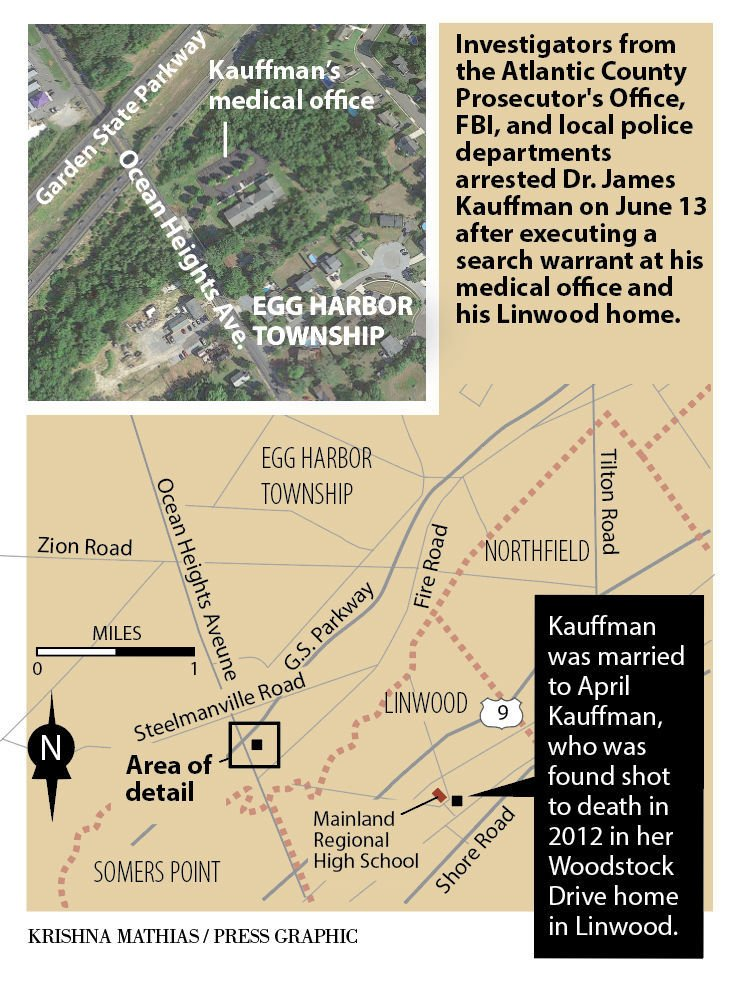 Kauffman arrest map