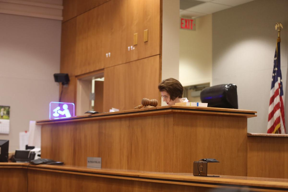 El Joshua of Mays Landing appears in court for an arraignment with his attorney Katherin Weigel. Tuesday, June 4, 2019.
