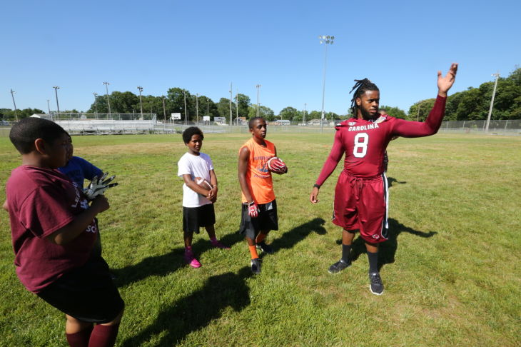 Kaiwan Lewis football camp