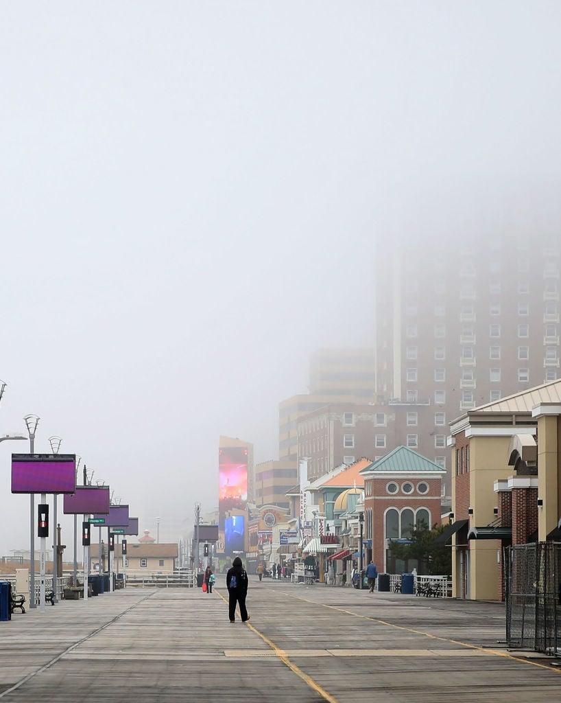 Fog covers Atlantic City