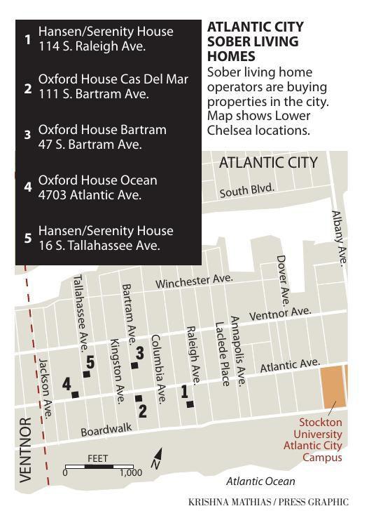 Sober living properties Atlantic City 7-2019