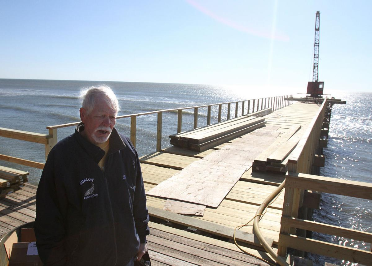 Beach fills leave fishing piers stranded over sand for Atlantic city fishing pier