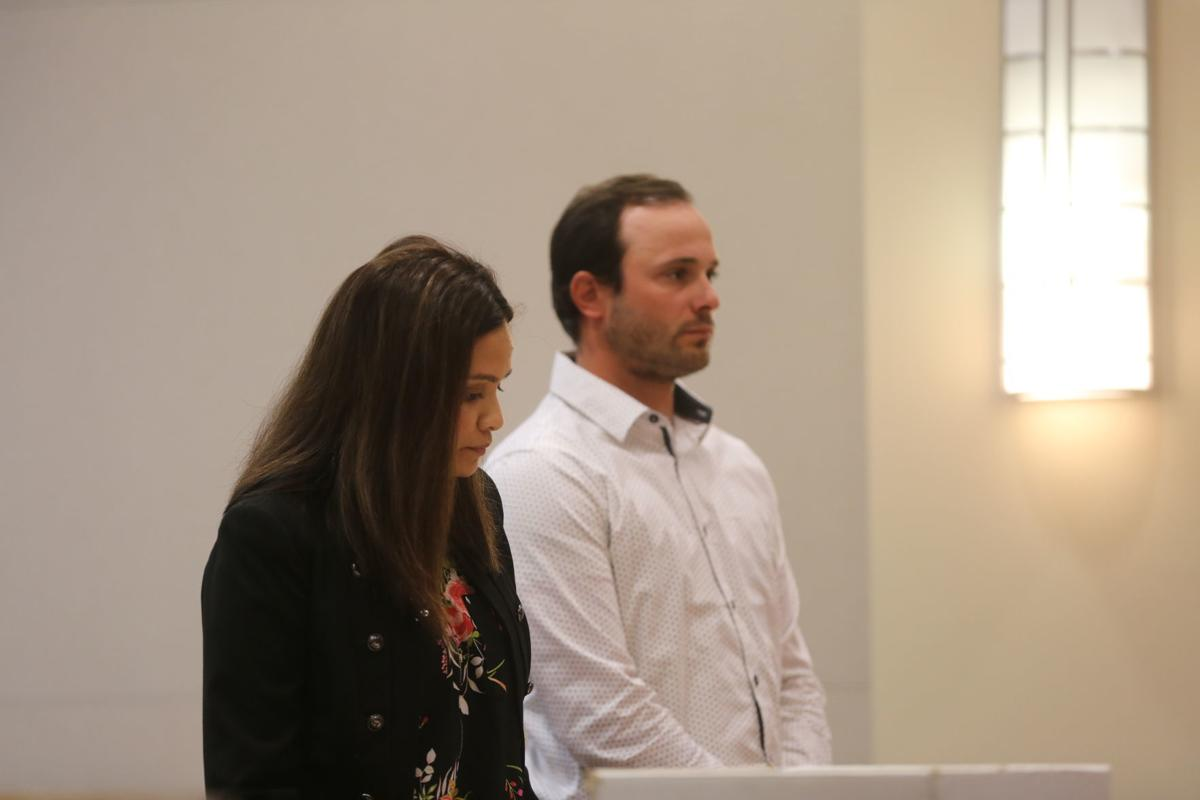 Mark Balesteri in court June 4, 2019 before Judge Benjamin Podolnick with his attorney Tina Islam.