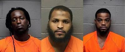 Wilbert Demosthenes, 28, Devan Leggette, 23, and Anthony Hicks, 27,