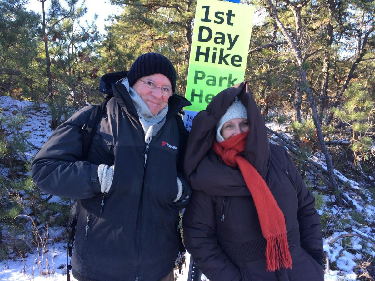 Chuck and Linda Luther at Bass River State Forest First Day Hike 2018
