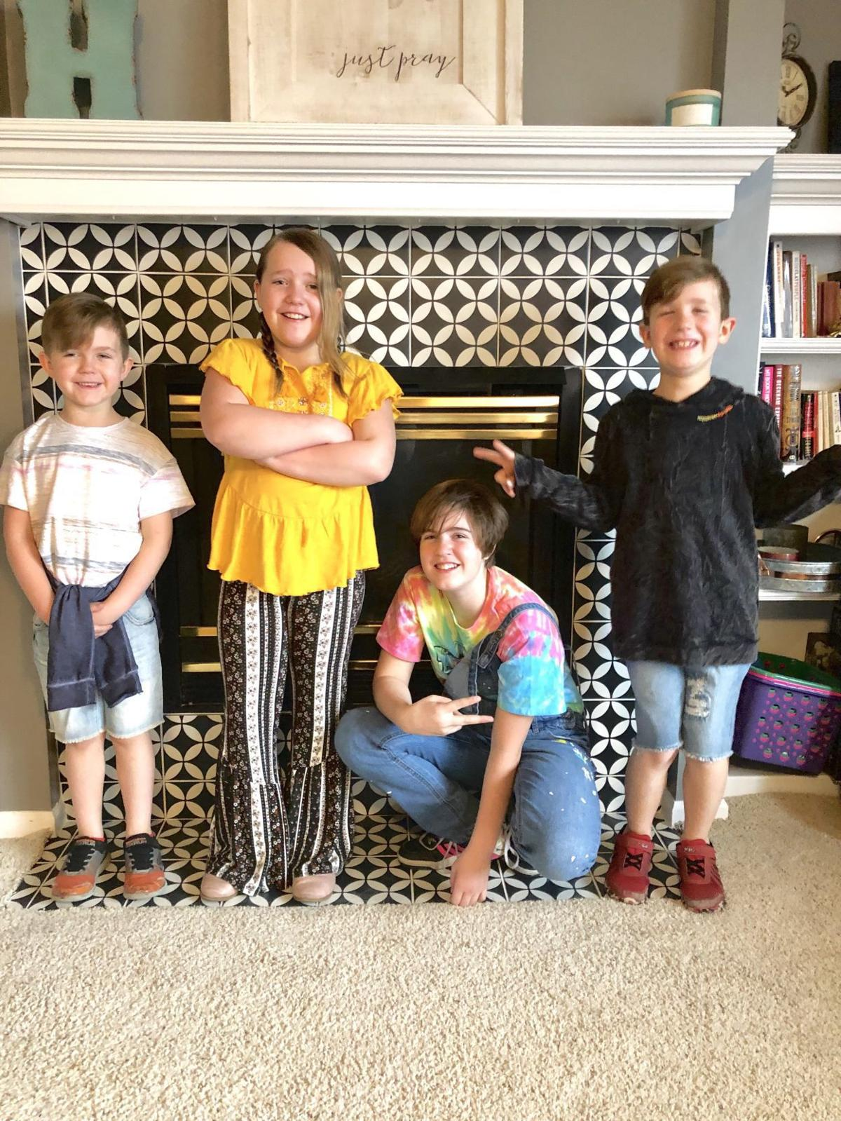 Rachel Higginson - kids throw back day