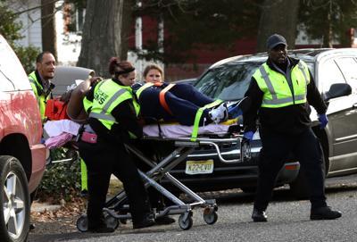 57dd097f077 PLEASANTVILLE SHOOTING. Buy Now. EMTs transport shooting victim rapper  Beanie Sigel ...