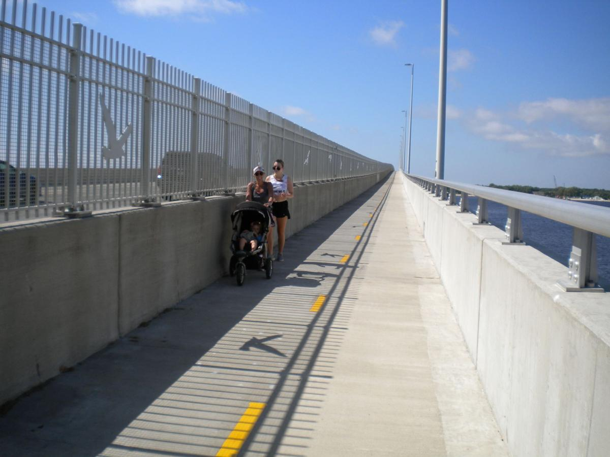 Women on bridge