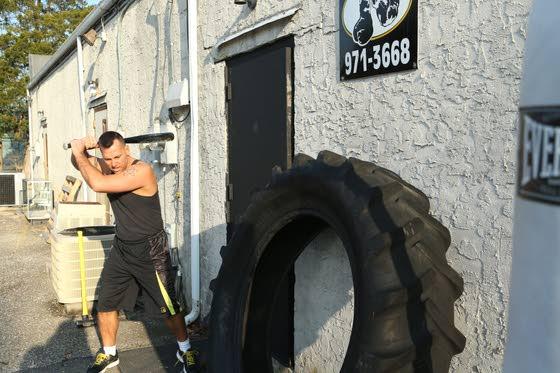Your Workout: Baseball bat strikes on monster tire