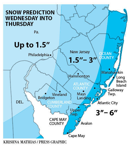 Snow may for Jan 3-4