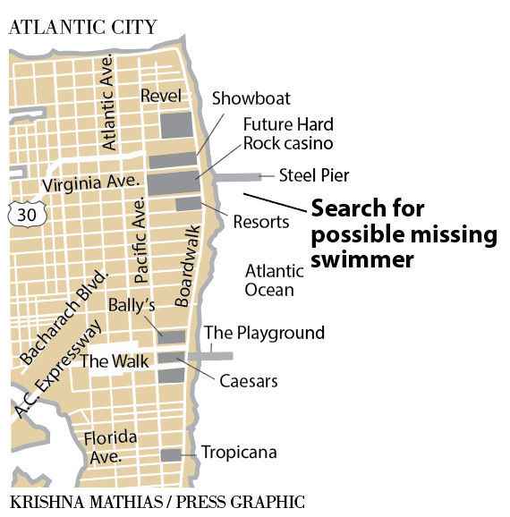Possible missing swimmer Atlantic City 8-2-2017