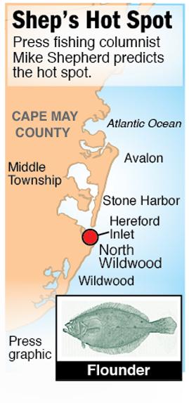 Shep Hot Spot flounder Hereford Inlet