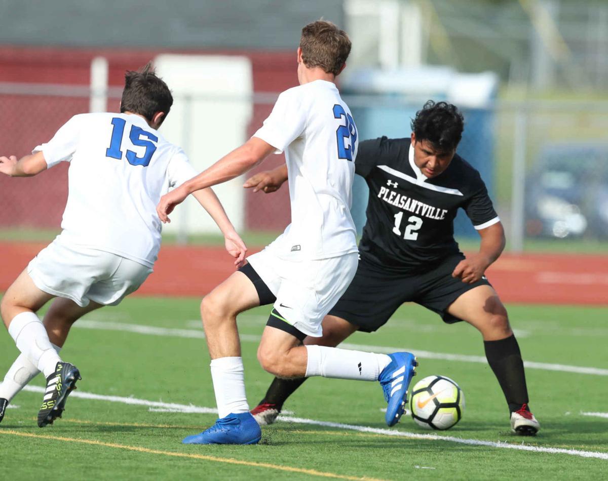 Pleasantville's vs Wildwood Catholic's boys soccer game