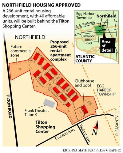 266-unit apartment complex Northfield Tilton Road 2016 map