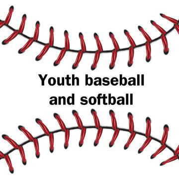 youth baseball softball logo