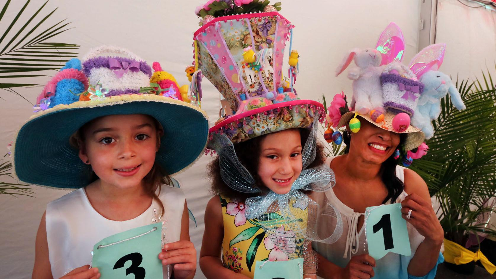Bonnets, dresses and bows on display at Steel Pier's Easter fashion show