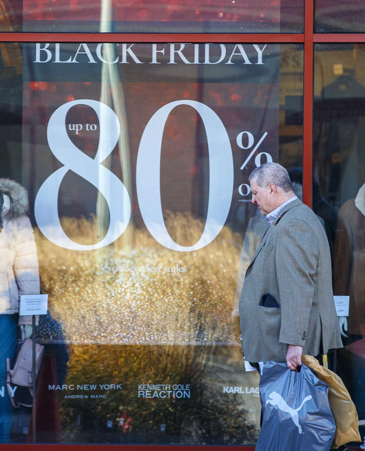 Black Friday sales at the Walk
