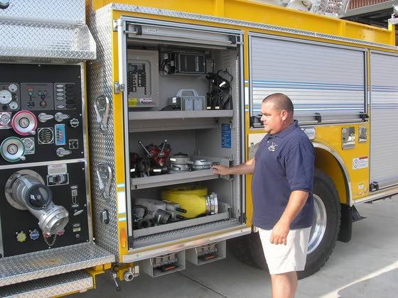 Seaville firefighters stand out in yellow
