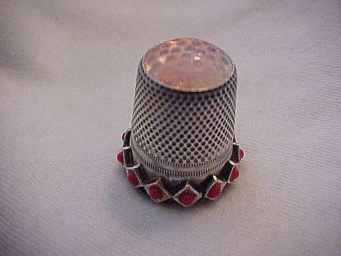 Antiques & Collectibles: Silver thimble is a flea market bonus
