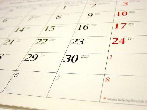 Calendar stock image