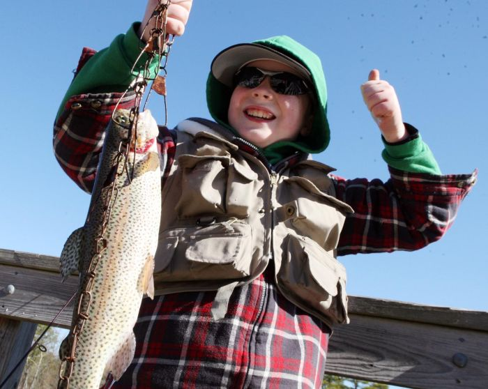 Opening day of trout season at Birch Grove Park