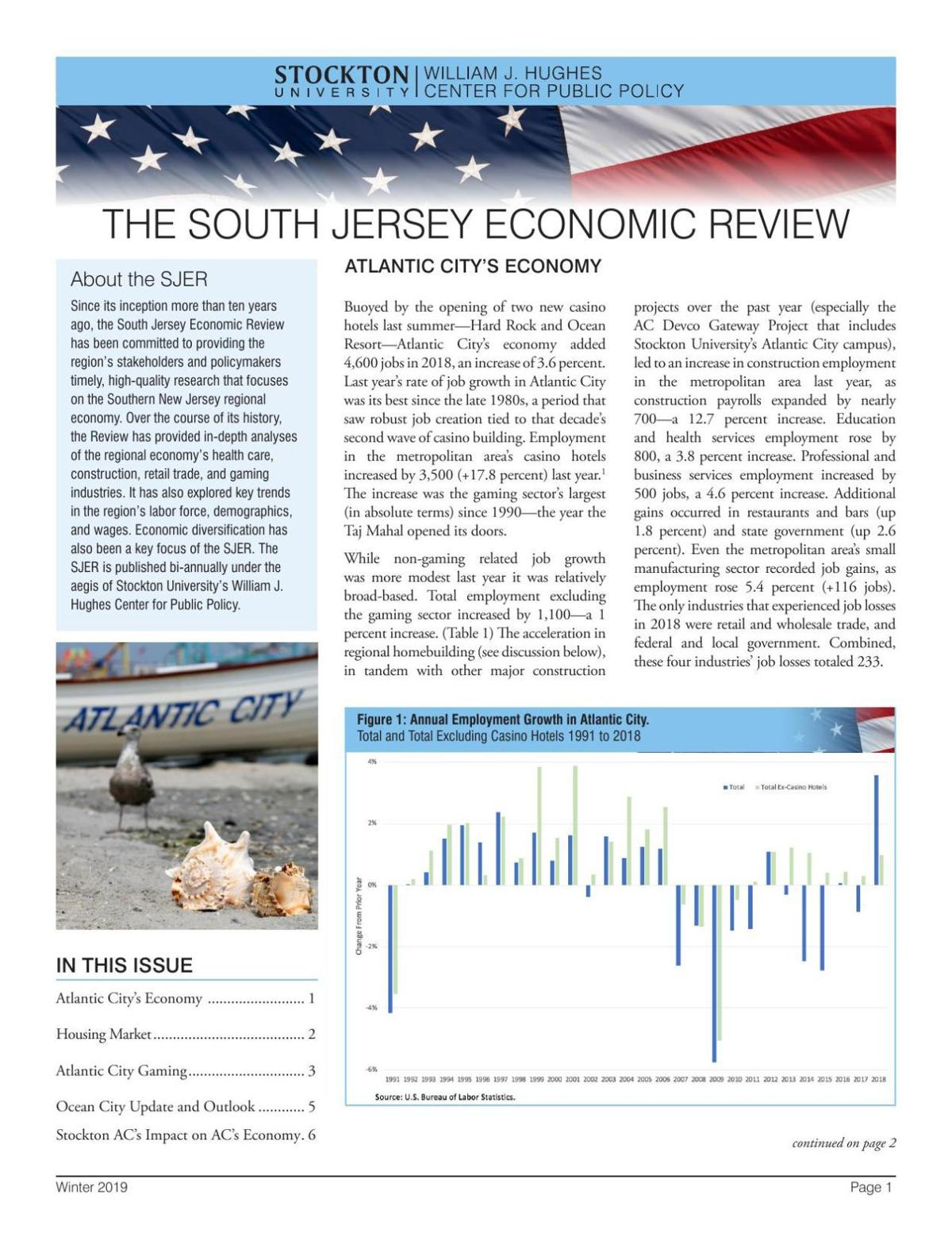 South Jersey Economic Review - Winter 2019