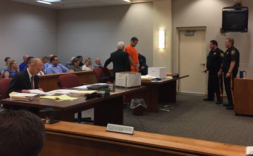 Bonek arrives in court