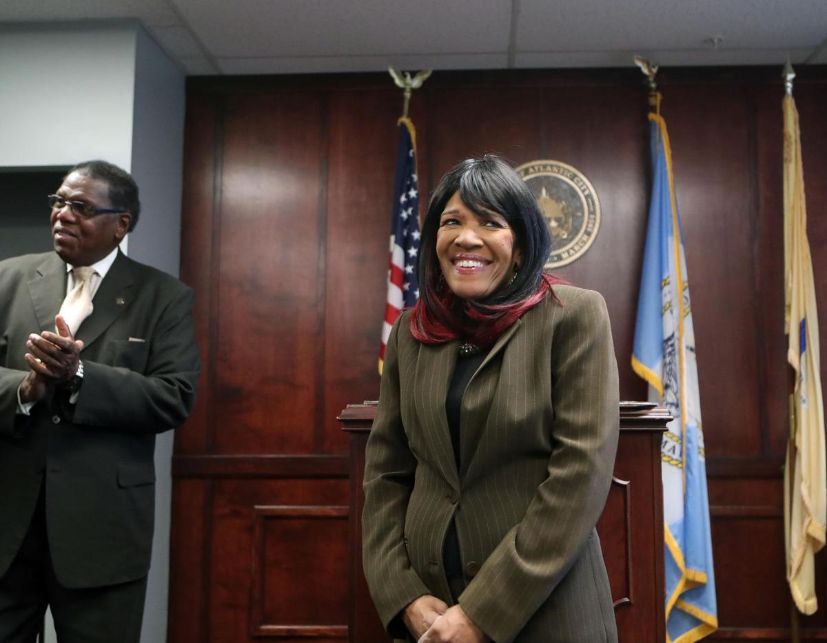 Angela Burton receives the key to the city