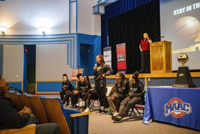 Rider University Women's basketball visits Atlantic City High Schoo