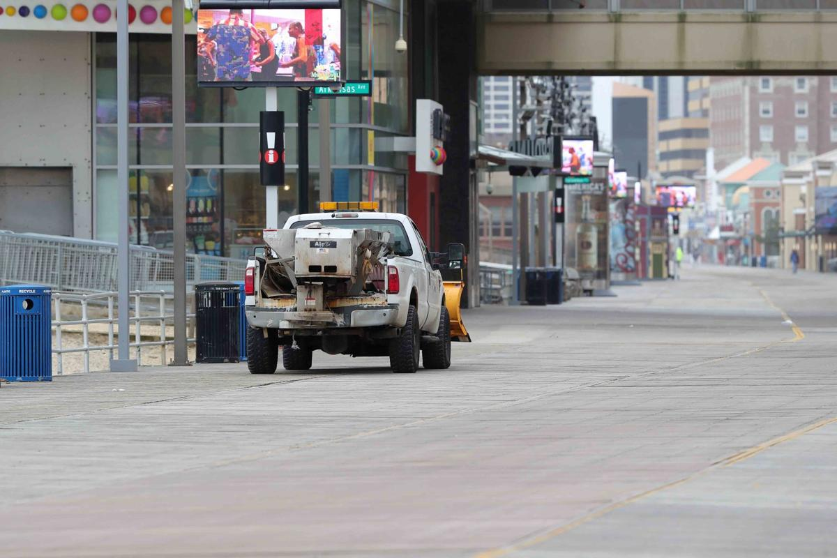Utility vehicles on Boardwalk
