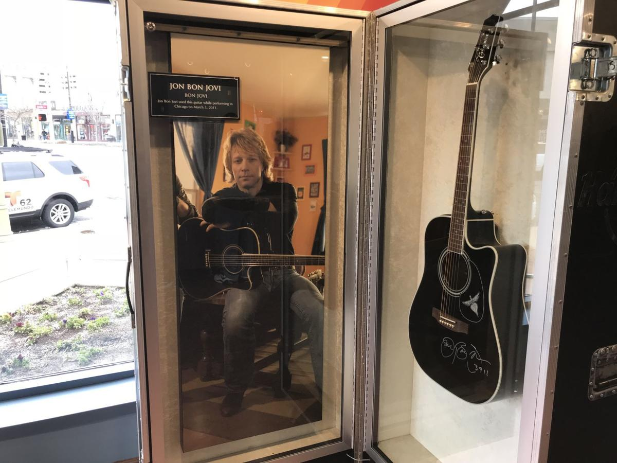 Bon Jovi guitar at Hard Rock preview center in Tanger Outlets