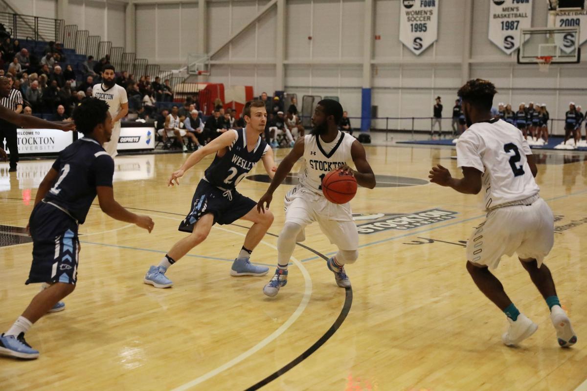 Wesley College at Stockton University mens basketball