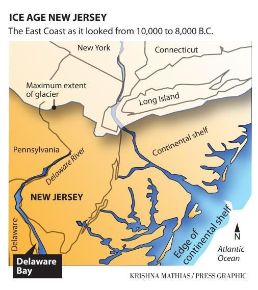 Ice Age New Jersey map