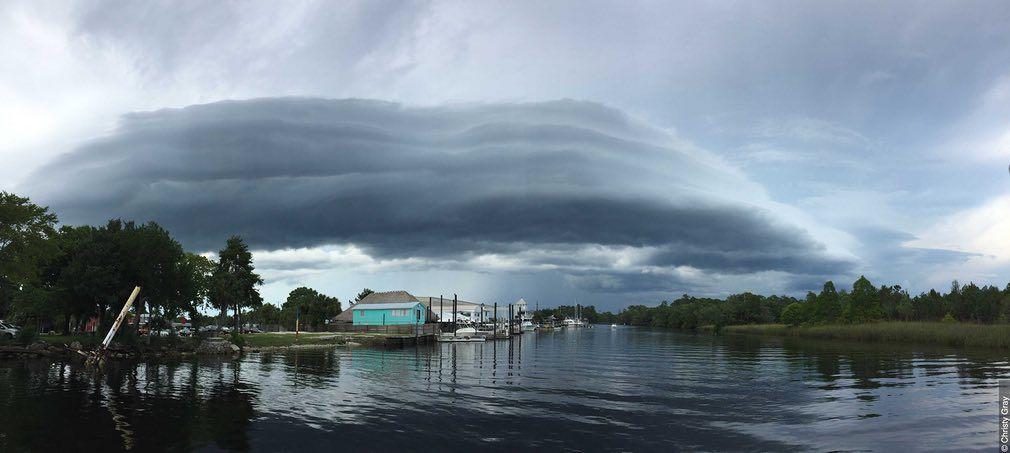A roll cloud, now called a volutus cloud, over Florida