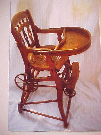 Antiques & Collectibles: Convertible highchair is an unusual heirloom - Antiques & Collectibles: Convertible Highchair Is An Unusual