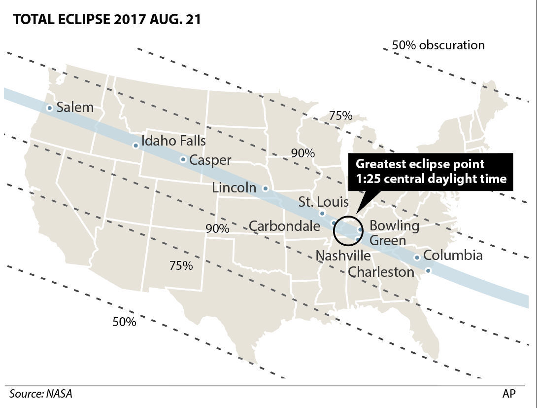 Eclipse graphic map
