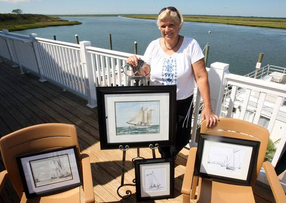 Sand in my Shoes: Art exhibit pays tribute to the schooner A.J. Meerwald