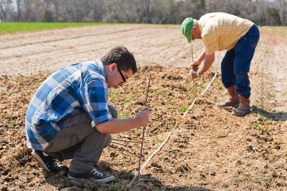 Cape May Tech students plant fruit trees on six-generations-old Dias Creek farm