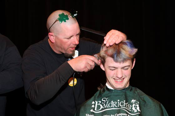 St. Baldrick's head shaving at LCMR becoming much more of a co-ed event