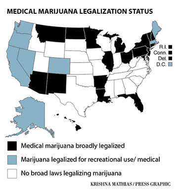 Medical marijuana states map
