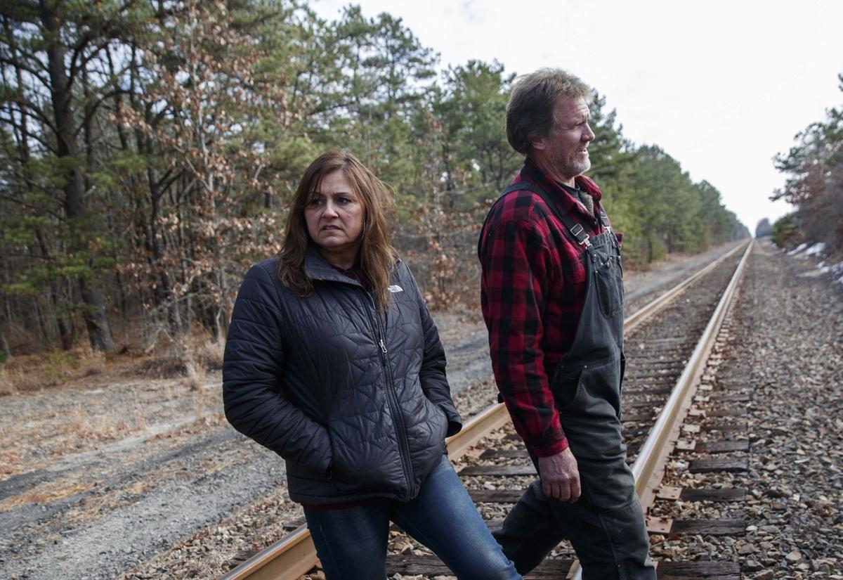 Dianne and Stephen Valiante walks train tracks where daughter past away