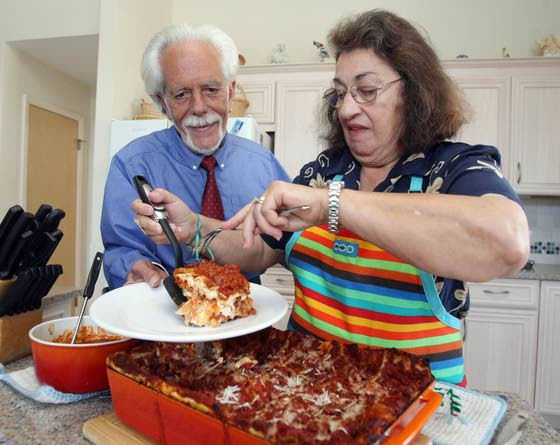 Luck, love and his family's lasagna