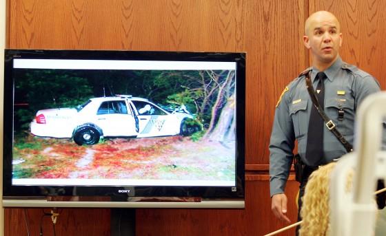 Witness to fatal crash testifies Trooper Higbee's car never